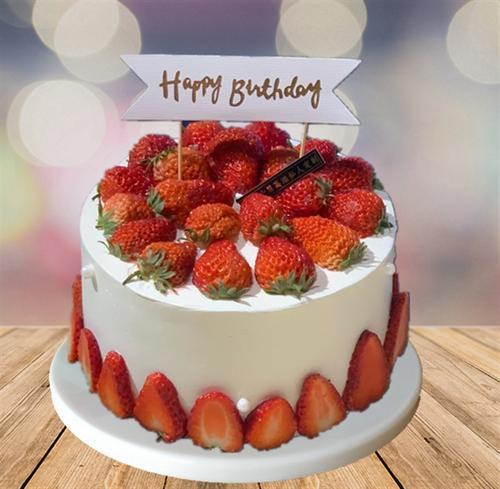 蛋糕蛋糕模型仿真水果蛋糕模型仿真生日蛋糕草莓模型