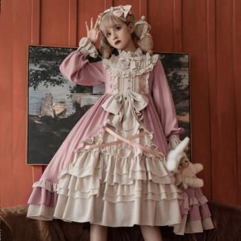 高端气质新品lolita奶油小甜心少女洛丽塔华丽洋装日常秋冬灯笼袖长袖