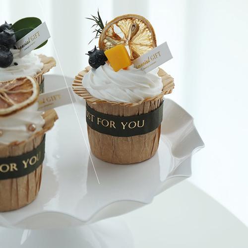 杯子仿真新款网红甜品台纸杯蛋糕模型尐朩样品美食