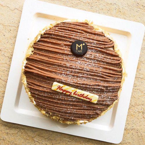 【配送】mcake朗姆醇栗栗子奶油生日蛋糕上海