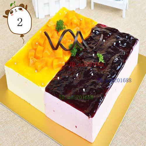 芒果草莓榴莲慕斯生日蛋糕同城济南青岛烟台潍坊淄博