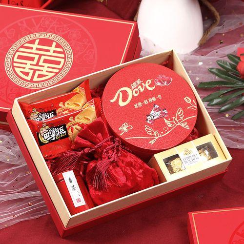 喜糖礼盒装成品含糖婚庆订婚喜饼高档结婚糖果回礼套装婚礼伴手礼