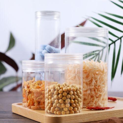透明饼干桶食品储存罐pet瓶子干果罐塑料瓶曲奇盒 烘焙包装盒10