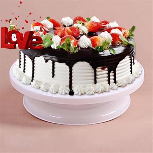 制作蛋糕底托盘可转家用装饰个性裱22花旋转台烘焙平板蛋糕台蛋糕