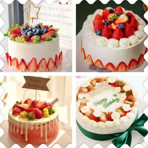 上海新鲜草莓淡淇淋蛋糕送朋友同事闺蜜生日下午茶聚会甜点