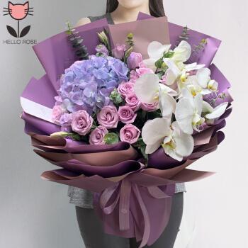 鲜花 同城配送蝴蝶兰玫瑰混搭花束生日升职祝贺父亲节商务送爸爸男士