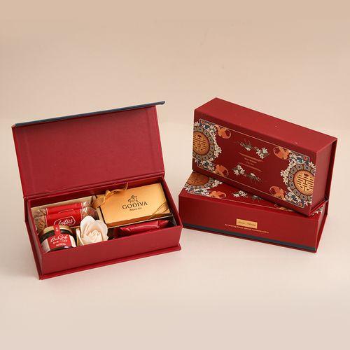 结婚喜糖礼盒装含糖果婚礼订婚桌糖中式回礼创意伴手礼成品含糖