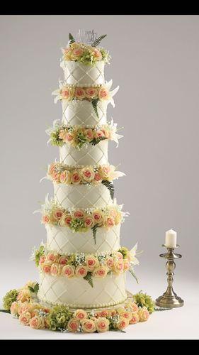 六层婚庆蛋糕模型 多层高端韩式鲜花婚庆蛋糕 开业模型新款定制