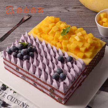 壹点壹客(1date1cake) 壹点壹客芒果慕斯蓝莓红丝绒蛋糕生日蛋糕儿童