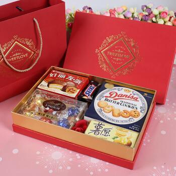 喜糖礼盒成品含糖混合装结婚回礼伴手礼订婚糖果礼 精品套餐(a) 礼盒