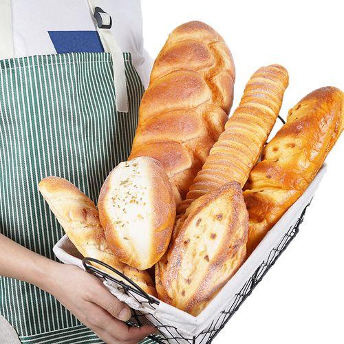 仿真面包模型法式假麦皮面包法棍长条装饰橱窗摆设摄影道玩具包邮