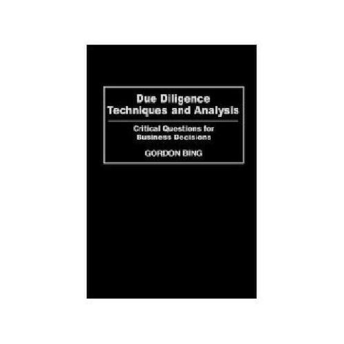 【预订】due diligence techniques and analysis