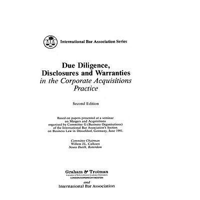 预订 due diligence, disclosures and warranties
